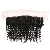 Melhores Indian humanos brasileiros Lace natural do cabelo sedoso humana profunda Toupee Cabelo faixa de onda