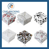 Caja de papel impreso de joyas collar (CMG-PJB-007).