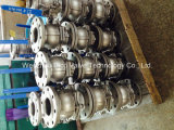 Pn16 High Platform 2 Pieces Flange Ball Valve