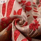 Tela 330GSM del telar jacquar del Chenille del diseño de la flor
