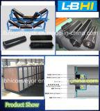 コンベヤーのローラーまたはよいベアリングおよびシャフトが付いている鋼鉄ローラーまたはアイドラーローラー