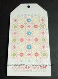 Kundenspezifischer DruckpapierHangtag für Kleid mit vollen Farben