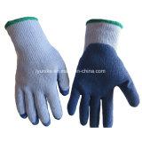 С покрытием из латекса естественный белый хлопок 10указатели вязаные рукавицы