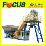 Popular na planta de tratamento por lotes concreta móvel pequena Philipine de Yhzs25 25m3/H