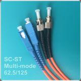 Fibre multimode St-Sc double noyau de câble de pontage