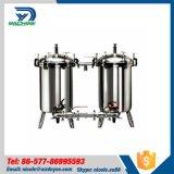 Acier inoxydable de qualité alimentaire réservoir SS304 Double filtre double