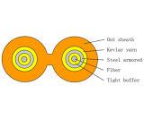 De Chinese Vlakke Tweeling Duplex Gepantserde Binnen Optische Kabel GJFJBV van de Vezel
