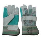 Handschoenen van de Hand van het Werk van het Leer van de anti-kras de Beschermende voor Raffinaderij
