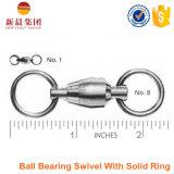 固体リングが付いている真鍮およびステンレス鋼のボールベアリングの旋回装置