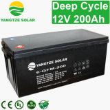 Bateria profunda 12V 200ah do inversor do armazenamento do ciclo para o sistema solar
