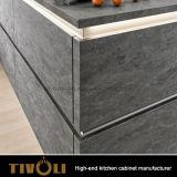 Шкафы Ktichen дистресса новые черные с самой лучшей кухней конструируют Tivo-D012h