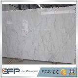 任意端が付いている中国自然なカラーラの白い大理石の大きい平板