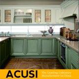 Nuevos muebles al por mayor de la cocina del gabinete de cocina de madera sólida del estilo al por mayor U (ACS2-W20)