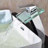 Grifo de baño de cristal de la palanca de Singel