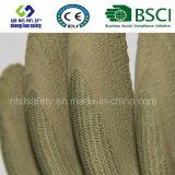 Gants fonctionnants de jardinage enduits de caoutchouc spongieux de gant