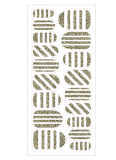 Модный временно стикер ногтя переноса воды