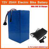 高い発電72V 2800Wのリチウム電池72V 25ah Ebike電池72V電池のパックの使用3.7V 5.0ah 26650のセル40AのBMSおよび2A充電器