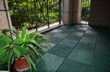 Azulejo de goma al aire libre del Decking del suelo SBR del certificado de RoHS que se enclavija
