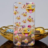 Cartoon Soft TPU Cover Caso de telefone Emoji para iPhone