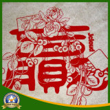 El paño impreso aduana de la arpillera del yute para adorna