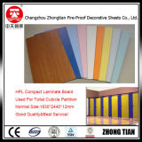 Tarjeta fenólica pública del laminado del compacto de la tarjeta HPL de la cabina de los armarios