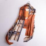 Alta calidad de impresión personalizada bufanda de lana de cachemir Mantones