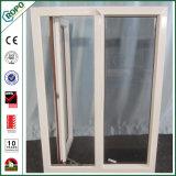 白いPVCプロフィールのフランス窓、最上質の蝶番を付けられたWindows