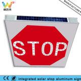 Знак стопа движения интегрированный алюминиевой доски солнечный