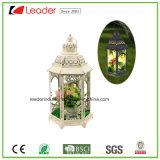 Metallweiße Kerze-Laterne mit LED-Licht für Hauptdekoration