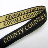 회의를 위한 로고 주문 방아끈이 두껍게 길쌈한 3D에 의하여 또는 자카드 직물은 또는 수를 놓았다