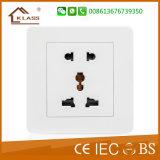 Soquete de segurança Soquete de parede de 3 pinos Tomada de interruptor elétrico