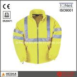 Высокая видимость безопасности износа мужчин Зимняя куртка EN20471 Hivis флис