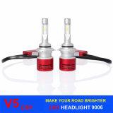 車およびオートバイのための高い発電LED自動ヘッドランプ9006 Hb4 H4 H11 H7 V5 Csp LEDのヘッドライト6000k