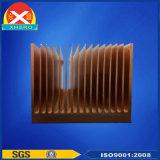 Noircir oxydé en alliage en aluminium pour le matériel de communication du dissipateur de chaleur