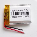 bateria do polímero do lítio de 3.7V 900mAh 803040 para E-Livros Pocket móveis Bluetooth do PC de PSP