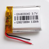 PSPの移動式小型のパソコンのE本Bluetoothのための3.7V 900mAh 803040のリチウムポリマー電池