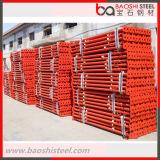 Pintura o apoyos ajustables galvanizados del apuntalamiento de los apoyos del acero del andamio