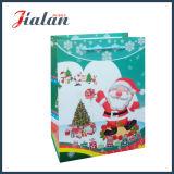 Personnaliser le logo de Noël noir mat papier bon marché des sacs-cadeaux