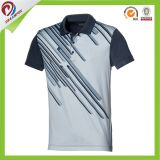 T-shirt fait sur commande de sublimation, T-shirts de polo de sublimation, polo estampés