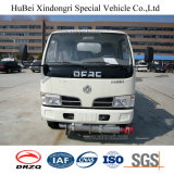 Camion-citerne aspirateur de combustible dérivé du pétrole d'essence d'essence de l'euro 4 6cbm Dongfeng