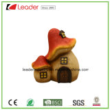 Polyresin Hot Selling Mushroom Toad Maison Statue Décoration de jardin