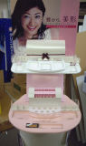 Kosmetischer Knall-Bildschirmanzeige-Pappausstellungsstand für Einzelverkauf