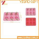 Moulage de gâteau de moulage de chocolat de plateau/silicones de glaçon de forme de Stawberry de silicones
