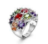Bunte Energien-Diamant-Edelstein Joyeria Bohrmeißel-Eingriffs-Form-Stein-Ring-Schmucksachen