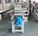 中国の最上質の刺繍機械価格安い単一ヘッド15針の帽子のTシャツの平らなコンピュータの刺繍機械