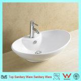 Design spécial monté dessus en céramique sanitaire du dissipateur de lavage