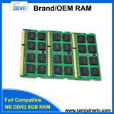 RAM DDR3 8GB SODIMM памяти низкой плотности 512MB*8/16c