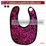 Ropa del bebé baberos para bebés para partido del leopardo del babero delantal (A1055A)