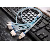Хорошее качество 4 в 1 многофункциональном кабеле данным по USB универсалии