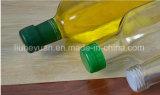 frasco de vidro quadrado sem chumbo transparente de petróleo 750ml verde-oliva